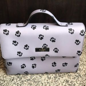 Kate Spade Paw Print Cosmetic Case